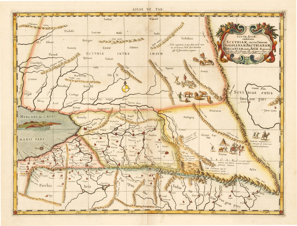 Scythiam, intra Imaum Sogdianam, Bactrianam ... Asiae Regiones By: Mercator Date: 1578 (printed circa 1730) Size: 13.5 x 18 in - antique, map, central asia