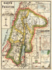 Antique Map of Palestine by: Rappard F. von 1869 : nwcartographic.com