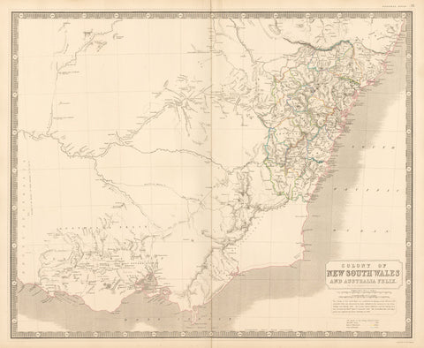1844 Colony of New South Wales and Australia Felix.