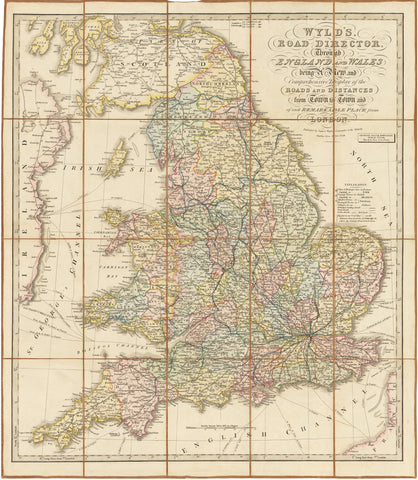 1838 Wyld's Road Director, Through England and Wales Being a New and Comprehensive Display of the Roads and Distances from Town to Town and of each Remarkable Place from London.