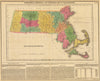 1822 Geographical, Historical, and Statistical Map of Massachusetts