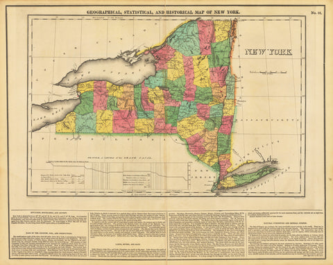 1822 Geographical, Statistical, and Historical Map of New York