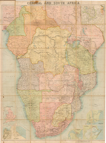 1892 - 1900  Map of Central and South Africa