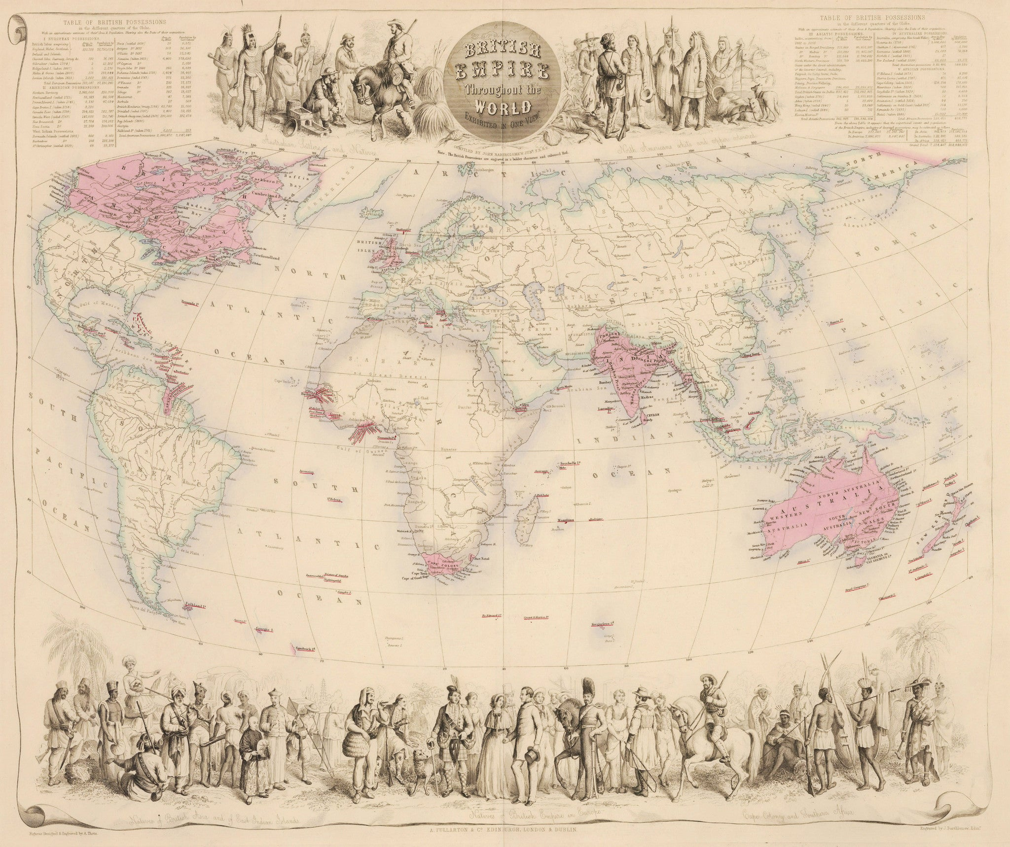1855 British Empire Throughout the World Exhibited in One View