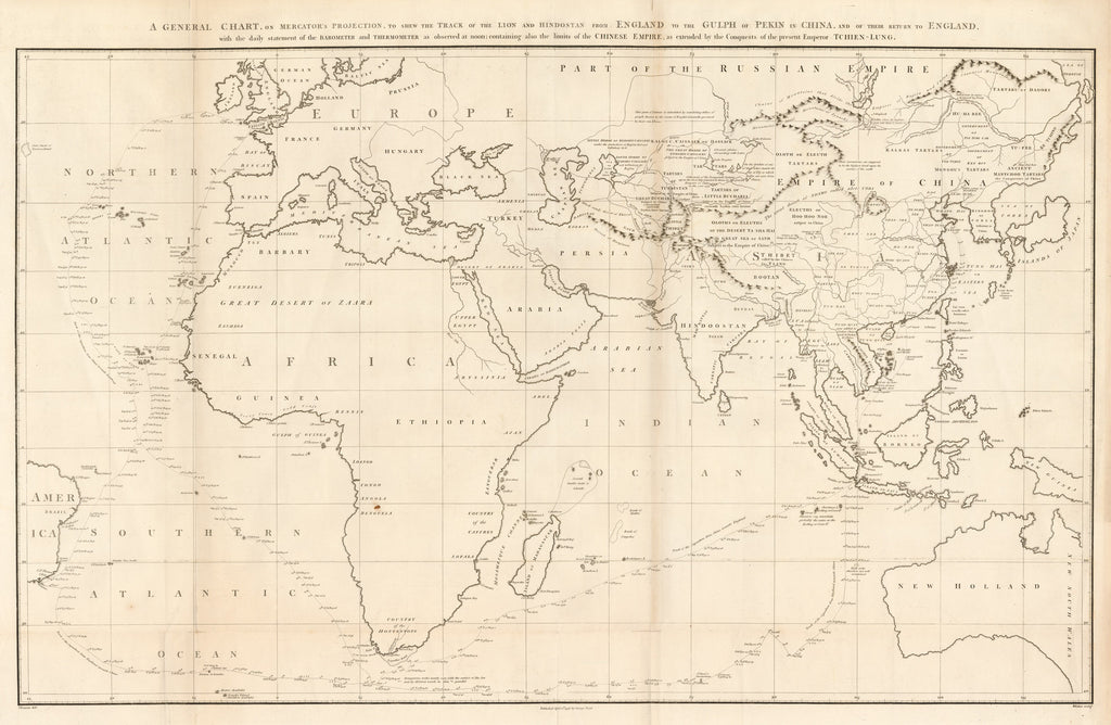 Sea Chart of the Eastern Hemisphere of the World :hjbmaps.com ...