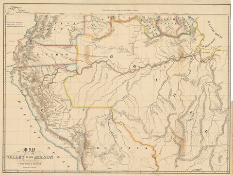 1853 Map of the Valley of the Amazon to accompany Lt. Herndon's Report.
