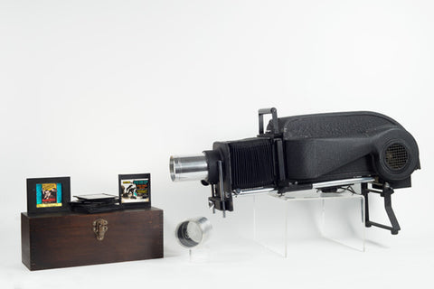 1930s American Optical Co. Spencer Slide Projector w/ 190 slides