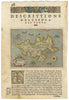 Antique Map of the Greek isle of Zante by: Porcacchi 1574 : nwcartographic.com
