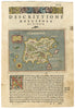 Antique Map of the Greek isle of (Nicsia) Naxos 1574 : hjbmaps.com