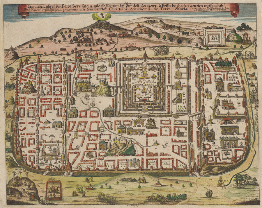 nwcartographic.com - Map of Jerusalem; By: August Christian Fleischmann; Date: 1708