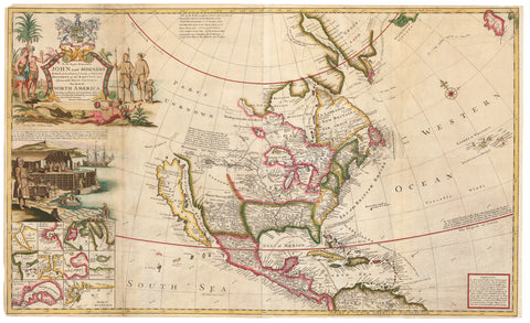 1720 …This Map of North America According to Ye Newest and Most Exact Observations…