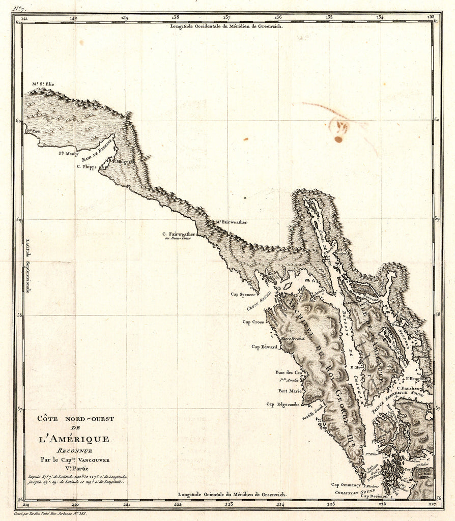 Antique Map of the Pacific Northwest by George Vancouver 1799 - HJBMaps.com