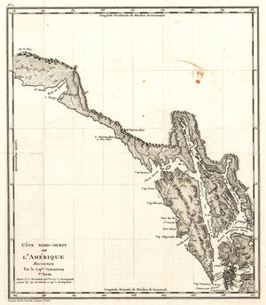 Antique Map of the Pacific Northwest by George Vancouver 1799 - nwcartographic.com