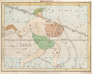 Antique Map of Aquarius By: R. Phillips & Co. Date: 1821