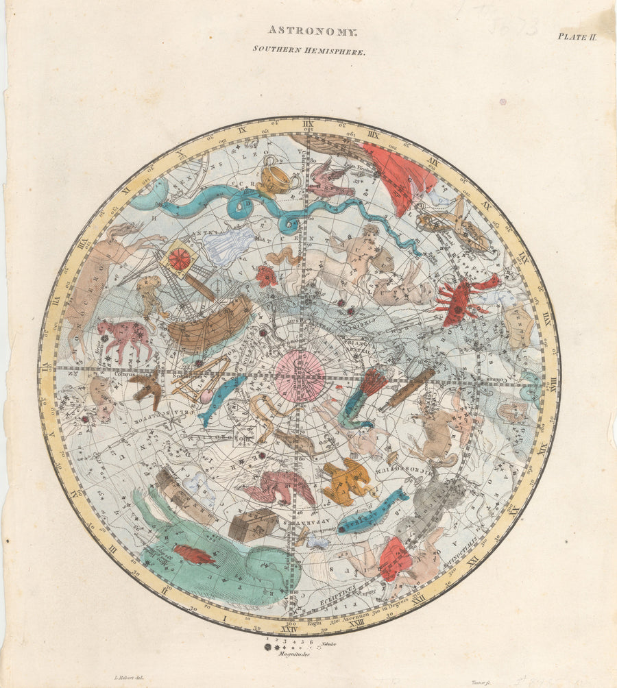 Antique Astronomy Map By: R. Phillips & Co. Date: 1821