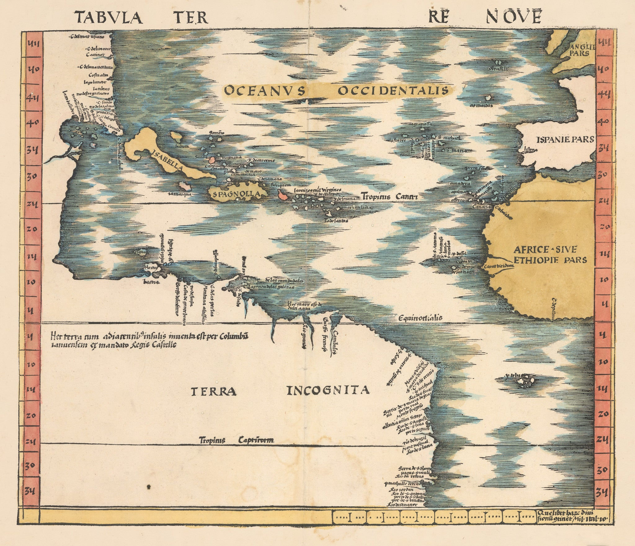 Tabula Terre Nove (The Admiral's Map) By: Martin Waldseemuller 1513