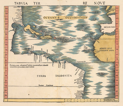 1513 Tabula Terre Nove (The Admiral's Map)