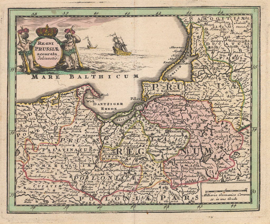 1724 Map of Prussia