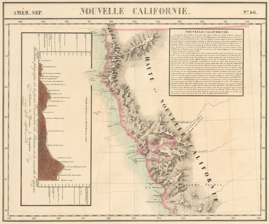 1825 Amer. Sep. Nouvelle Californie No. 46