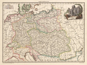 Antique Map: Allemagne By: Chamouin after Giraldon Date: 1812 - nwcartographic.com