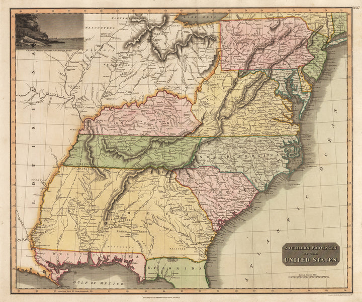 Southern Provinces of the United States By: John Thomson Date: 1817