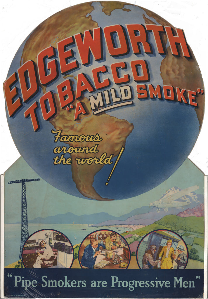 Vintage Edgeworth Tobacco (store display) 1948 : hjbmaps.com
