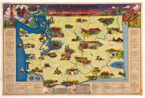 1947 State of Washington Historical Map
