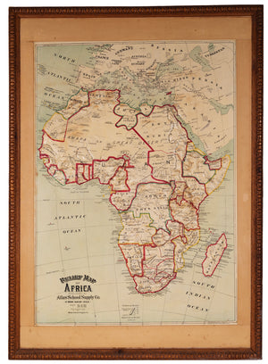 Relief Map of Africa By: Atlas School Supply Co., Date: 1892 / 1907 (Published) Chicago, Dimensions: 47.5 x 34.5 inches