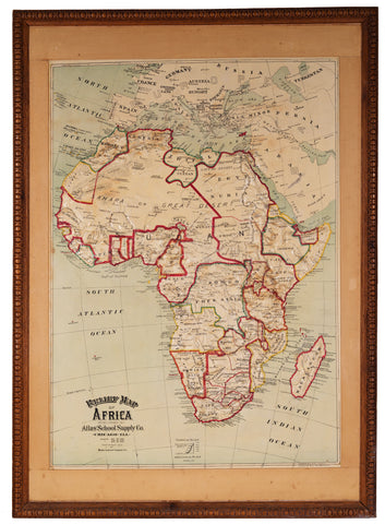 1892/1907  Relief Map of Africa