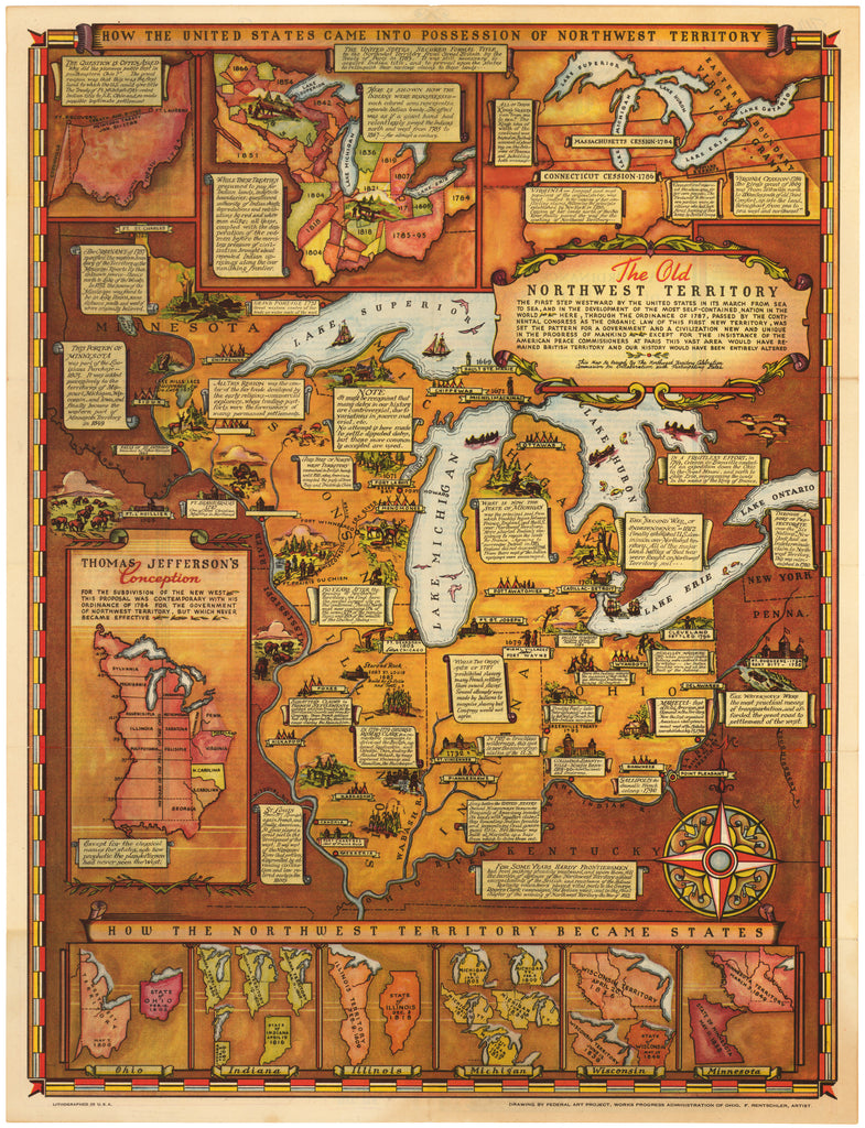 Northwest Chicago Map.How The United States Came Into The Possession Of Northwest