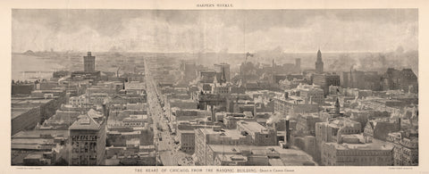 1892 The Heart of Chicago, from the Mason Building