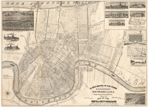 1884 The World's Industrial and Cotton Centennial Exposition, New Orleans, LA...