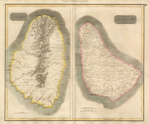 1817 West India Islands – St. Vincent / Barbadoes