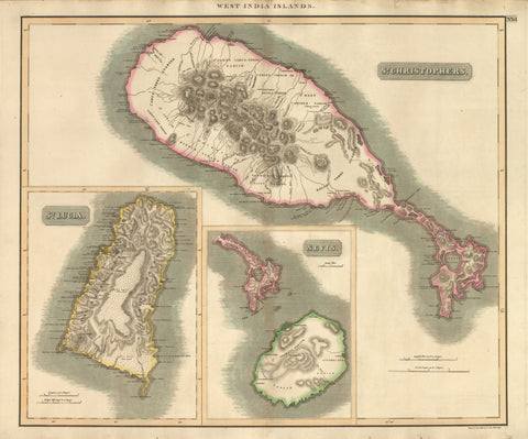 1817 West India Islands – St. Christophers / St. Lucia / Nevis