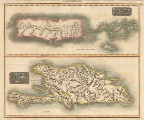 1815 West India Islands – Porto Rico and Virgin Isles / Haiti, Hispanola or St. Dominigo