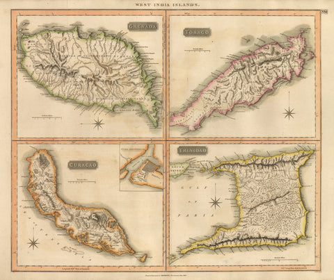 1816 West India Islands – Grenada / Tobago / Curacao / Trinidad