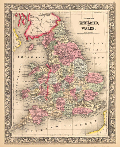 1862 Map of England and Wales
