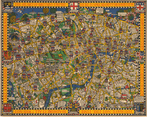 1924 The Wonderground Map of London Town