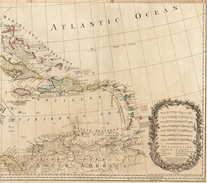 1777 A New and Correct Map of North America, with the West India Islands, Divided according to the last Treaty of Peace...