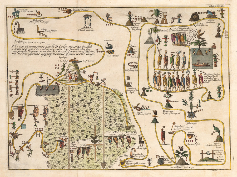 untitled [The Ancients' Migration from their Home in the Mountains to Tenochtitlan]