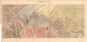1858 Geological Map No. 2 - Explorations and Surveys. War Department. Map No. 1. Rio Colorado of the West, explored by 1st Lieut. Joseph C. Ives, Topl. Engrs...