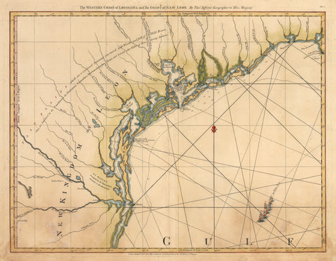 1775 The Western Coast of Louisiana and the Coast of New Leon.