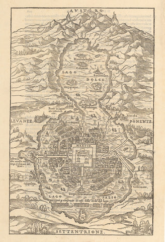 1556 [A View of Mexico City.] Untitled map of Mexico City.
