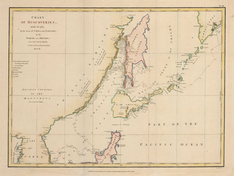 1798 Chart of Discoveries made in 1787 in the Sea of China and Tartary... Sheet II.