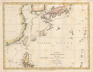 Chart of Discoveries made in 1787 in the Sea of China and Tartary, by the Bouffole and Astrolabe from their leaving Manilla, to their arrival at Kamtschatka, Sheet I.