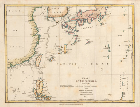 1798 Chart of Discoveries made in 1787 in the Sea of China and Tartary... Sheet I