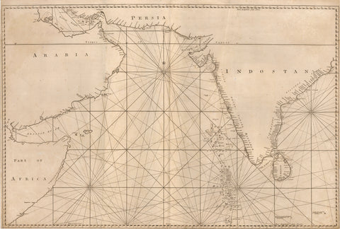 1774 [Sea Chart of the Indian Ocean Including the Arabian and Persian Gulf]