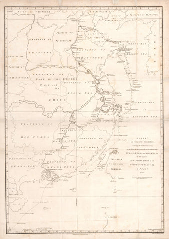 1797 A Chart on Mercator's Projection, containing the Track and Soundings of the Lion, the Hindostan and Tenders...