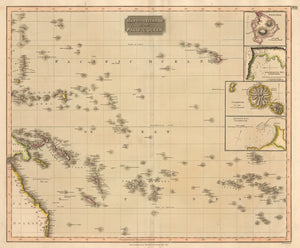 Map of the Islands in the Pacific - Antique Map of the South Pacific by John Thomson 1817 : nwcartographic.com