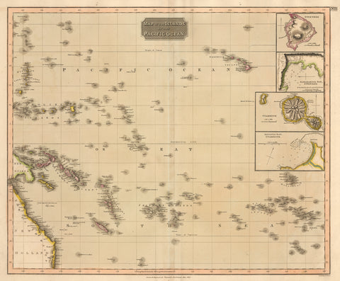 1817 Map of the Islands in the Pacific